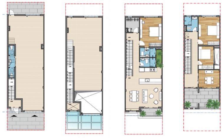 Thiết kế Nhà phố thương mại Senturia Nam Sài Gòn chủ đầu tư Tiến Phước Bình Chánh